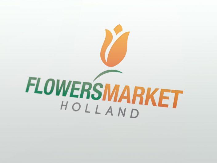 Logo Flowers Market