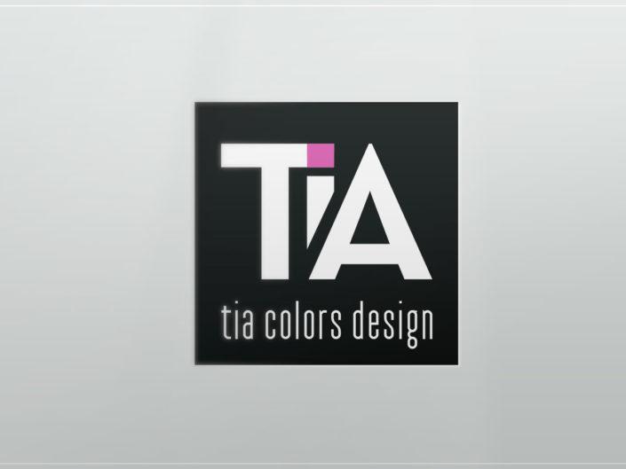 logo tia colors design